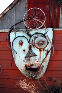 Charlie Lucas: Face On Barn